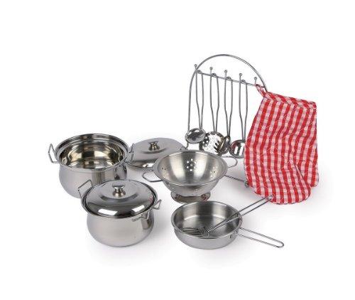 Dinette complète en métal pour cuisiner comme pour de vrai