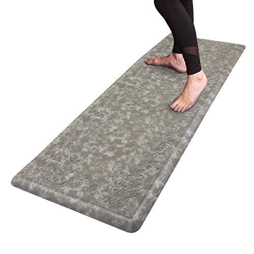 HEBE Kitchen Mat Cushioned Anti Fatigue Floor Mat Waterproof Non-Slip Comfort Standing Mat Ergonomic Kitchen Floor Mat Rug Runner for Office,Sink,Laundry,Desk,20'x52'