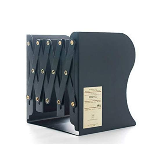 Hmg Ajuste del Soporte del Estante Grande Holder turística del sujetalibros de Metal for Libros Papel de Regalo (Blanco) (Color : Black)