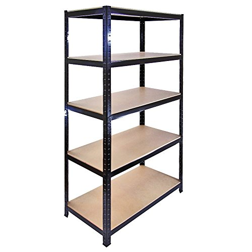 The Shopfitting Shop Resistente de 5Niveles sin Tornillos estantería de Garaje Utilidad de Efecto Invernadero casa estantería 1800x 900x 400