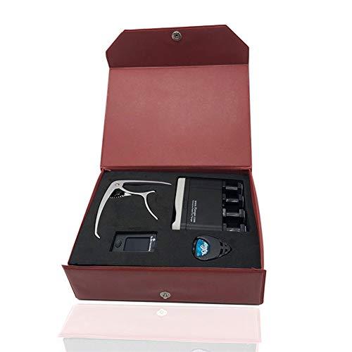 QING.MUSIC String accessories Gitarrenzubehör Aufbewahrungsbox Spezieller Tuner Capo-Kits Zubehör für Streichinstrumente,Red