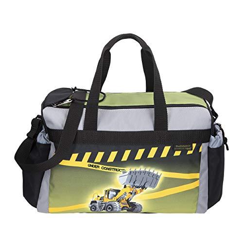 Bulldozer - Bagger - McNeill Schulsporttasche Sporttasche Schwimmtasche mit NASSFACH Freizeittasche Kindertasche