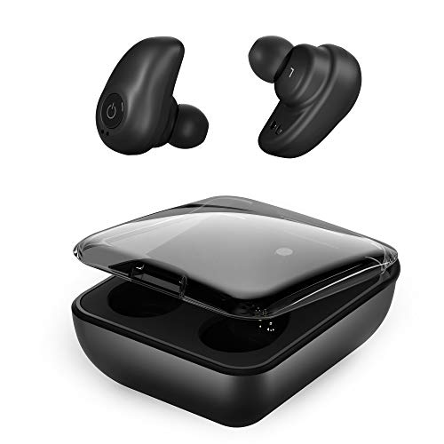 Bluetooth Wireless Earbuds for Andriod iPhone, TWS Bluetooth 5.0 Cordless Headphones Auto Pairing Earphones with Mic, 72H Cyclic Playtime Headset Single/Twin Mode, 2000Mah Magnetic Charging Case