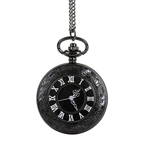 SENFEISM Cómodo El Reloj De Bolsillo Collar Para El Abuelo Papá Regalos Los Sentimientos Restauración Antiguas Maneras Reloj Hombre Bolsillo Fob Relojes