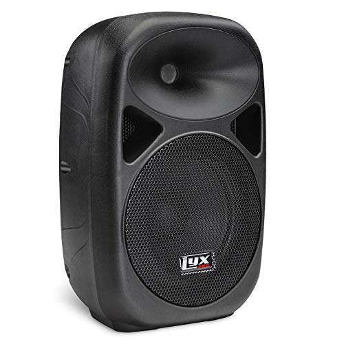 "LyxPro SPA-8-8"" Compact Portable PA System 100-Watt RMS Power Active Speaker with Equalizer, Bluetooth, SD Slot, USB, MP3, XLR, 1/4"", 3.5mm Input"