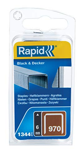 Rapid 40109549 Klammer für Black & Decker Produkte Typ 970/6mm, 1.340 St. Blister, 6 mm