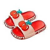 Chanclas para Niños De Verano Zapatilla para Niños Y Niñas, Zapatillas De Casa De Frutas Lindas, Zapatillas De Punta Abierta para Niños, Baño Ducha De Baño Niños Zapatos De Agua