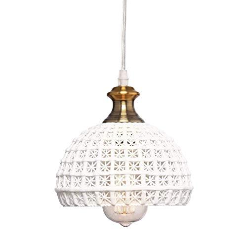 ZHSHOUCHENG Decoratie Kroonluchter, Plug Kroonluchter Keramische Lampen Mini Boot Plafond Lamp Slaapkamer Keuken Eiland Restaurant Foyer Kroonluchter