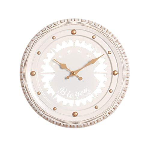 ZJN-JN Reloj de Pared Simple Reloj de Pared de la decoración Interior Creativo de Neumáticos Mute Reloj (Blanco 30 * 5.5cm Embalaje de 1) (Color: -, Tamaño: -)