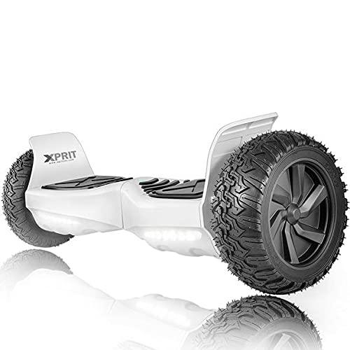 XPRIT 8.5'' All Terrain Off-Road Hoverboard w/Bluetooth Speaker, LED Lights, UL2272...