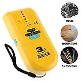3 in1 Metal/Wood Stud/AC Wire Finder Scanner Detector Handheld with LCD Spotlight & Groove