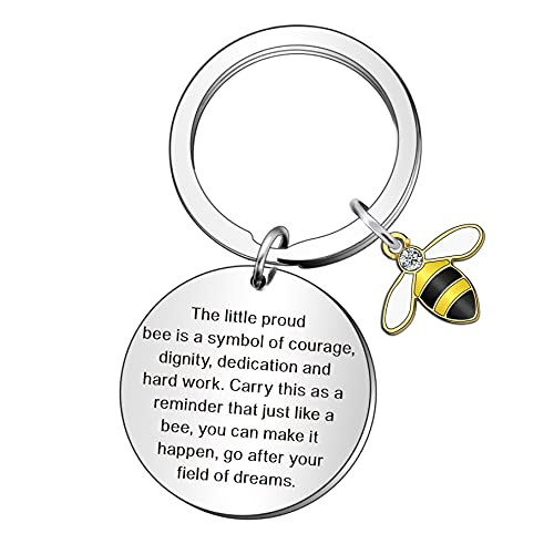 WTOPP Bee Inspirational Keyring for Daughter Son, Colleague...