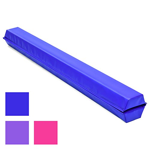 Best Choice Products 9ft Folding Medium-Density Foam Floor Balance Beam for Gymnastic and Tumbling - Blue