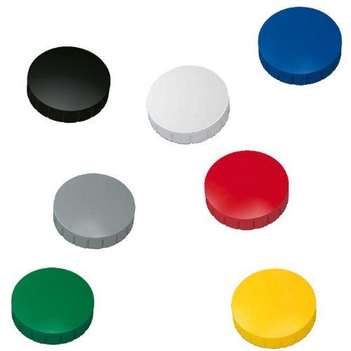 10x Magnete, Farbig sortiert Ø 24mm, Haftmagnete für Whiteboard, Kühlschrankmagnet, Magnettafel, Magnetwand, Magnet Rund