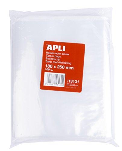 APLI 13131 - Pack 100 bolsas plástico autocierre