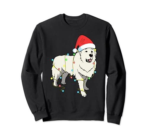Christmas Lights - Regalo divertido para amantes de los perros Sudadera
