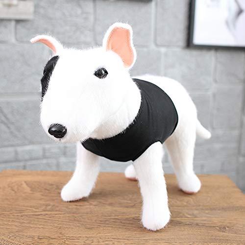 suxiaopei High-End Nerz Simulation Hund Plüschtier 30cm Bullterrier