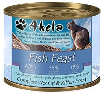 Akela Wet Cat Food Fish Feast 190g Single