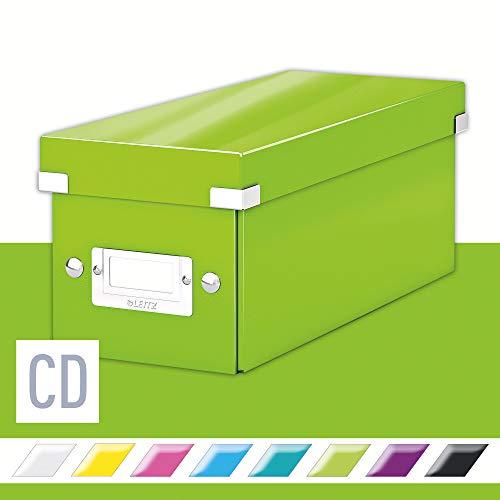 Leitz Aufbewahrungsbox Click & Store WOW CD, Grün, 143 x 136 x 352 mm