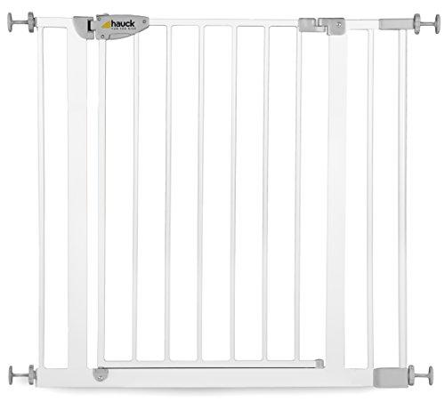 Hauck Squeeze Treppen- / Tür- schutzgitter mit 7cm Verlängerung für Kinder, für Hunde und...
