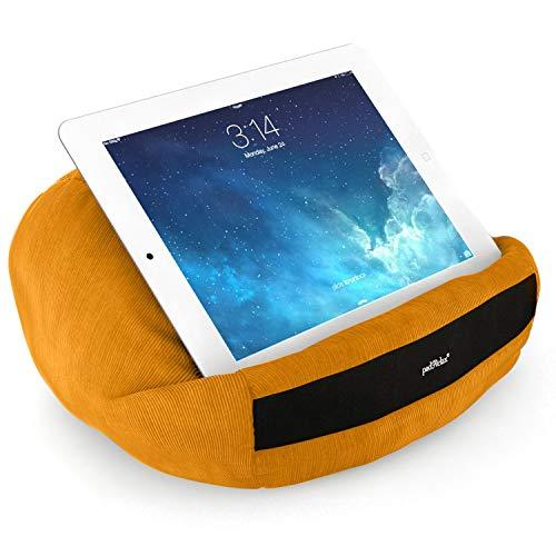 padRelax® Casual Curry I Halterung für e-Reader und Tablets bis 10.5 Zoll, Made in Germany, für Bett, Sofa, Tisch, kompatibel mit Apple iPad, kompatibel mit Samsung Galaxy Tablet