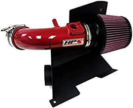 HPS 27-111R-2 Red Short Ram Air Intake Kit with Heat Shield (Non-CARB Compliant)