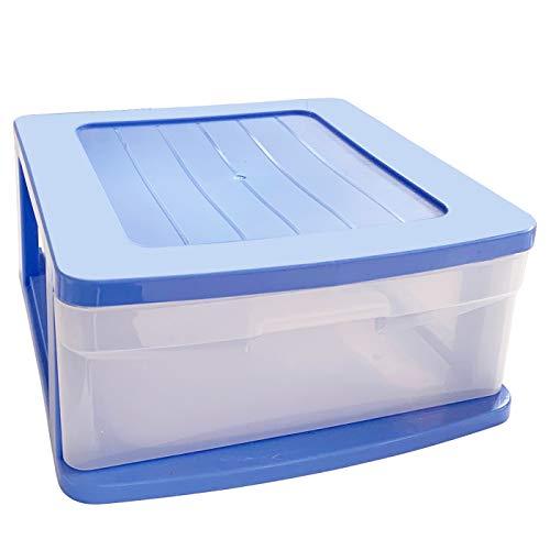 Plastic Forte Cajonera Sena 1 cajón Azul Trasparente