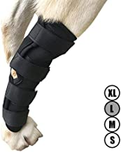 Dog ACL Brace for Torn acl Hock Brace for Dog Ankle,Hock Joint Leg Brace for Dogs Relieve Pain from Operation/Arthritis,Comfortable Soft Canine Leg Joint Wrap Bandage Protects Wounds/Injury(XL/L/M/S)