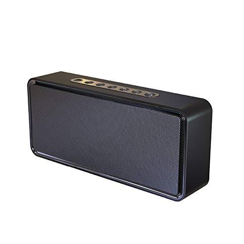 HARMON Altoparlante Bluetooth, Soundbox XL Bassup Stereo 3D Portatile A Doppio Driver Wireless, Bassi E Alti Estesi, con Supporto Microfono TF AUX TWS,Nero