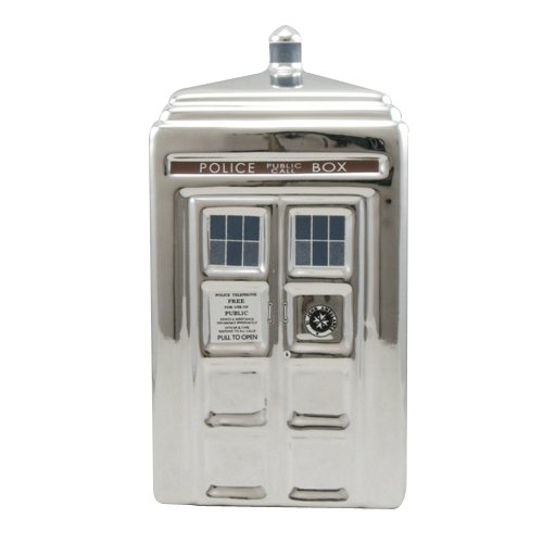 Doctor Who 50. Jahrestag Silber Tardis Keramik Spardose