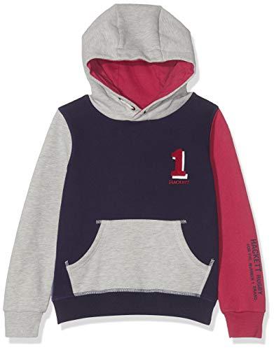 Hackett London Jungen Sweatshirt No1 Hoody Mehrfarbig (Indigo/Grey 5gq) 116 (Herstellergröße: 5-6 Years)