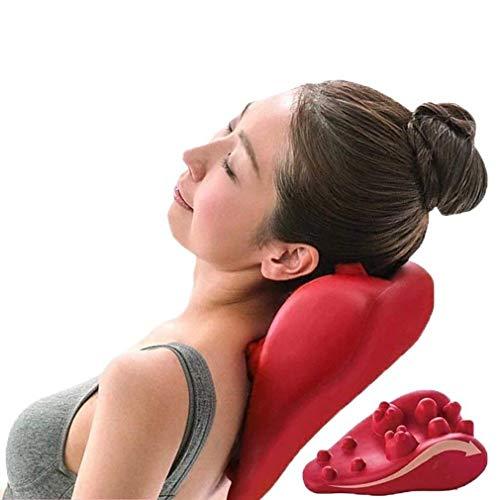 TIANYOU Cuello Y Hombro Relajante, Masaje Espinal Masajeador Cervical Hombro Relajante Descanso Almohada para la Salud para el Alivio Del Dolor Múltiples modos