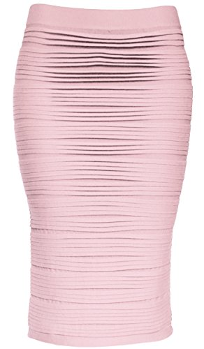 KMystic Strapless Tube Dress and Pencil Midi Bodycon Skirt in One (Blush)