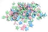 LilieCréa - Lote de 100 bradas de estrellas de colores pasteles parisinos de 14 mm, para manualidades, cartería, invitaciones, bodas, ocios creativos
