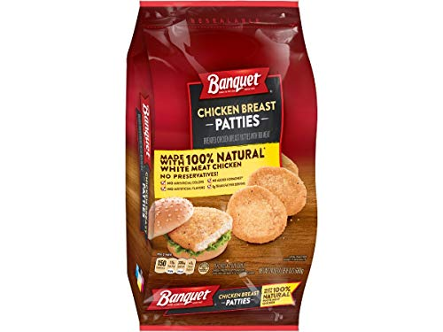 Banquet Chicken Breast Patty, 24 Ounce -- 8 per case.