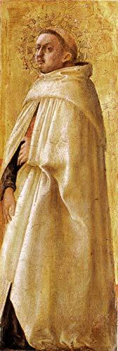 "Masaccio Saint Carmelitano Imberbe from The Pisa Altarpiece 1426 Gemaldegalerie Staatliche Museen zu Berlin 30"" x 10"" Fine Art Giclee Canvas Print (Unframed) Reproduction"