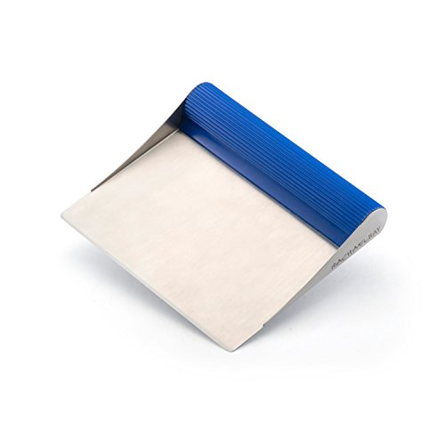 Rachael Ray Tools and Gadgets Stainless Steel Pastry Scraper / Bench Scrape / Kitchen Tool for Baking and Cooking / Dishwasher Safe, Blue
