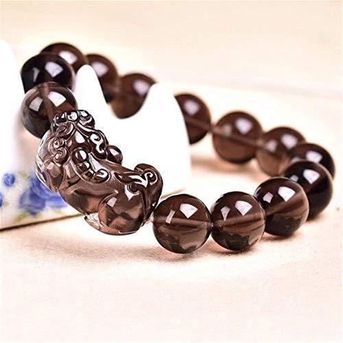 JPSOUP Feng Shui富の富は自然なアイス黒檀ブレスレットPixiu Piyao Braceletを魅了しているお金のお金を魅了している仏ビーズ翡翠のバングルギフトを魅了します.14mm (サイズ : 10mm)
