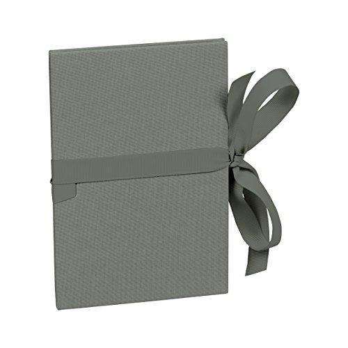 Semikolon (353218) Leporello Classico grey (grau) - Für 14 Bildern im Format 10 x 15 cm - Ziehharmonika-Fotobuch - Format: 12,2 x 17,7 cm