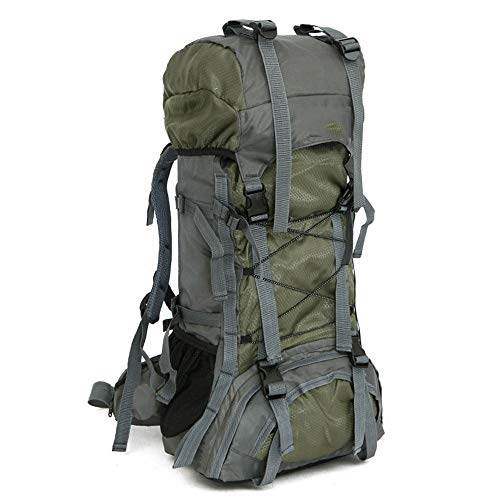 DKee outdoor backpack 60L Backpack Outdoor Sports Large Capacity Mountaineering Bag Camping Hiking Fitness Backpack (Color : Green)