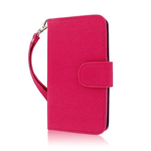 MPERO Flex FLIP Wallet Hülle Tasche Hülle for Samsung Galaxy S III I9300 T999 I747 - Pink Rosa/Navy