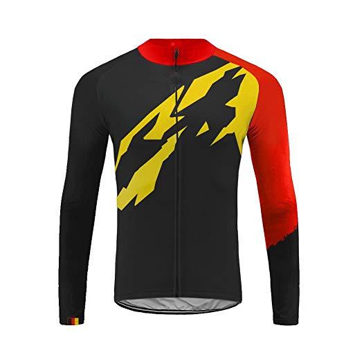 Uglyfrog 2019 Maglia da Ciclismo a Manica Lunga da Uomo Maglia da Ciclismo Radshirt Bicicletta Camicie Abbigliamento da Ciclismo per Men con Tessuto Traspirante Elastico ad Asciugatura Rapida