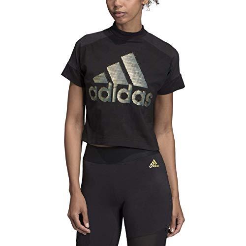 adidas Women's Badge of Sport Classic Graphic Tee (Black2, Small)