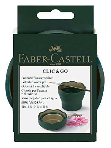 Faber-Castell Clic & Go Artist Water Cup - Dark Green