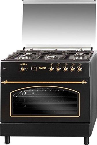 SVAN SVK9561FN Range cooker Encimera gas Negro - Cocina