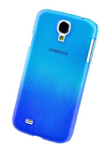 Circle Case-Custodia Posteriore per Samsung Galaxy S4 i9500, Motivo: Gocce di Pioggia, Colore: Blu