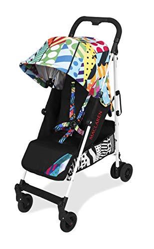 Maclaren Quest arc Silla de paseo, ligero, manillar unido para recién nacidos hasta los 25 kg, Asiento multiposición, suspensión en las 4 ruedas, Multicolor