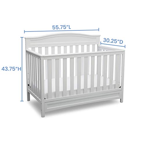 Delta Children Emery 4-in-1 Convertible Baby Crib