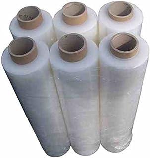 6 Rollen Stretchfolie Wickelfolie transparent 500 mm x 300 m - 23 mµ - 150 m²