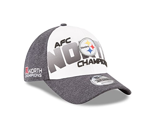 New Era Pittsburgh Steelers 2017 AFC North Division Champions 9FORTY Adjustable Hat ? Gray